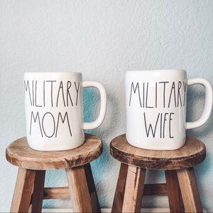 **SOLD** Rae Dunn Military Mom Wife Mug Set